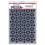 Dina Wakley Media Stencil: Almost Ikat MDS52401
