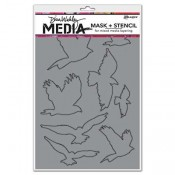 Dina Wakley Media Mask + Stencil: Flying Birds MDS52418