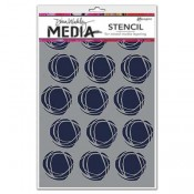 Dina Wakley Media Stencil: Fractured Circles MDS52425