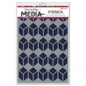 Dina Wakley Media Stencil: Stacked Squares MDS52449