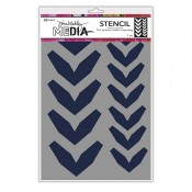 Dina Wakley Media Stencil: Large Fractured Chevrons MDS68228
