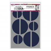 Dina Wakley Media Stencil: Large Halves MDS68235