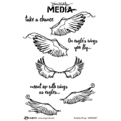 Dina Wakley Media Cling Mount Stamps: Scribbly Wings MDR52821