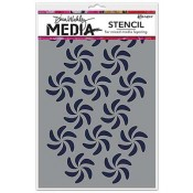 Dina Wakley Media Stencil: Bendy Pinwheels - MDS49869