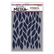 Dina Wakley Media Stencil: Big Leafy MDS54412