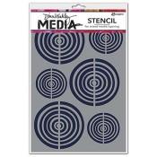 Dina Wakley Media Stencil: Bullseye - MDS49876