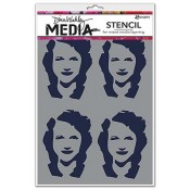 Dina Wakley Media Stencil: Four Women - MDS49883