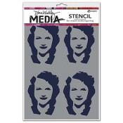 Dina Wakley Stencil: Four Women - MDS49883
