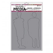 Dina Wakley Media Stencil: Giant Funky Silhouettes MDS60611