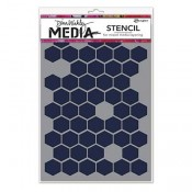 Dina Wakley Media Stencil: Honeycomb MDS58250