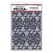 Dina Wakley Media Stencil: Linking Pattern MDS58267
