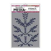 Dina Wakley Media Stencil: Boughs MDS47469