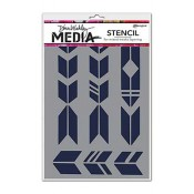 Dina Wakley Media Stencil: Grande Arrows MDS47476