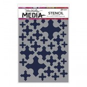 Dina Wakley Media Stencil: Medieval Crosses MDS58274