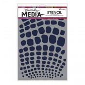 Dina Wakley Media Stencil: Scales MDS58281
