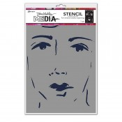 Dina Wakley Media Stencil: She Sees MDS69256