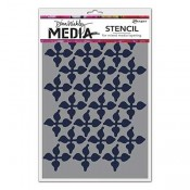 Dina Wakley Media Stencil: Wallpaper MDS60642
