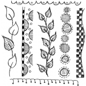 Dylusions Cling Mount Stamps - Around The Edge DYR34421