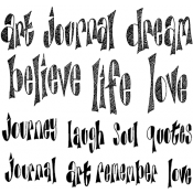 Dylusions Cling Mount Stamps - Word Love DYR34629