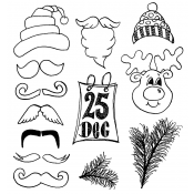 Dylusions Cling Mount Stamps - Christmas Accessories DYR35800