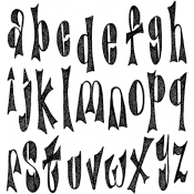 Dylusions Cling Mount Stamps - Dy's Alphabet DYR37743
