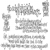 Dylusions Cling Mount Stamps - The Write Words DYR40934