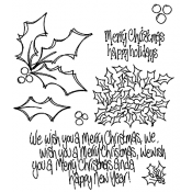 Dylusions Cling Mount Stamps - Holly Days DYR44949
