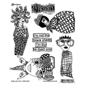Dylusions Cling Mount Stamps - Black Sheep DYR46189