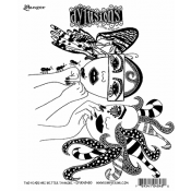 Dylusions Cling Mount Stamps - Two Heads Are Better Than One DYR48480
