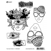 Dylusions Cling Mount Stamps - The Eyes Have It DYR51268
