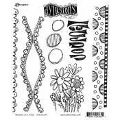 Dylusions Cling Mount Stamps - Anatomy of a Page DYR53644