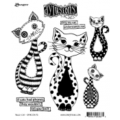 Dylusions Cling Mount Stamps - Puddy Cat DYR53675