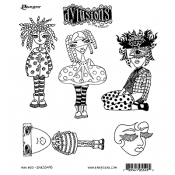 Dylusions Cling Mount Stamps - Mini Moo DYR55495