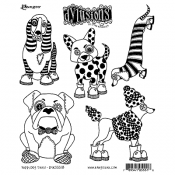 Dylusions Cling Mount Stamps - Puppy Dog Tales DYR55518