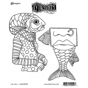 Dylusions Cling Mount Stamps - Fish Face DYR59493