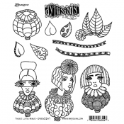 Dylusions Cling Mount Stamps - Three Little Maids DYR63247