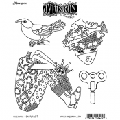 Dylusions Cling Mount Stamps - Clockwork DYR64657