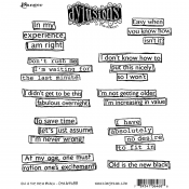 Dylusions Cling Mount Stamps - Old is the New Black DYR64688