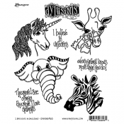 Dylusions Cling Mount Stamps: I Believe in Unicorns DYR66965