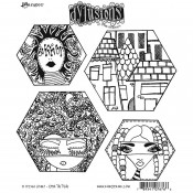 Dylusions Cling Mount Stamps: A Head Start DYR76766