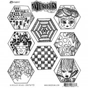Dylusions Cling Mount Stamps: A Heck of Hexies DYR76773