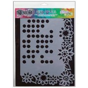 Dylusions Large Stencil: Dotted Flowers - DYS34018