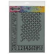 Dylusions Large Stencil: Alphabet Border - DYS39518