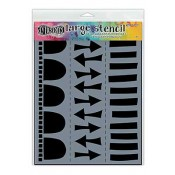 Dylusions Large Stencil: Arrow Border - DYS47155