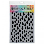 Dylusions Small Stencil: Raindrops - DYS52371
