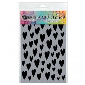 Dylusions Small Stencil: Love Hearts - DYS61694