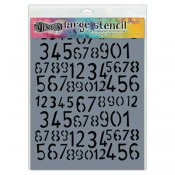 Dylusions Large Stencil: Old School Numbers - DYS55594