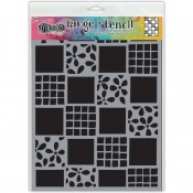 Dylusions Large Stencil: Square Dance DYS75325