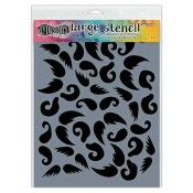 Dylusions Large Stencil: Stache of 'Tache - DYS49807