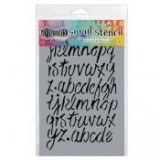 Dylusions Small Stencil: Modern Script - DYS55624